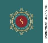 the letter s. flourishes... | Shutterstock .eps vector #387779701