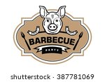 barbecue and grill labels | Shutterstock .eps vector #387781069