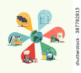 world usage of power sources... | Shutterstock .eps vector #387782815