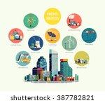 cool flat vector illustration... | Shutterstock .eps vector #387782821