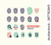 set of fingerprint vector flat...
