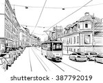 prague city hand drawn sketch.... | Shutterstock .eps vector #387792019