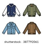 vector jackets icons. mens... | Shutterstock .eps vector #387792061