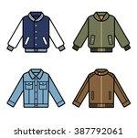vector jackets icons. mens...   Shutterstock .eps vector #387792061