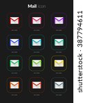 mail icons ui app set for icon...