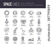 set of huge universe... | Shutterstock .eps vector #387795859