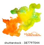 colorful watercolor stain in...