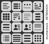 hamburger menu icons set. bar... | Shutterstock .eps vector #387804424