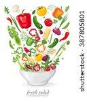vector illustration set of... | Shutterstock .eps vector #387805801