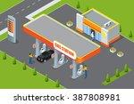 petrol station. refilling ... | Shutterstock .eps vector #387808981
