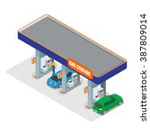 gas station. petrol fuel tank ... | Shutterstock .eps vector #387809014