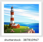 Seascapes. Vector Illustration...