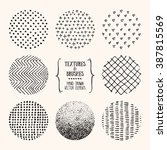 hand drawn textures and brushes.... | Shutterstock .eps vector #387815569