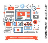youtuber video production... | Shutterstock .eps vector #387815839