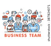 young and successful business... | Shutterstock .eps vector #387824071