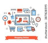 ecommerce business concept.... | Shutterstock .eps vector #387828595