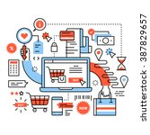 ecommerce business concept.... | Shutterstock .eps vector #387829657