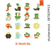 saint patricks day isolated... | Shutterstock .eps vector #387829915