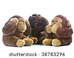three plush gorillas... | Shutterstock . vector #38783296