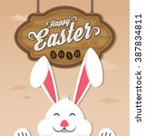 happy easter 2016 and smiling... | Shutterstock .eps vector #387834811