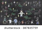 crowd funding illustration | Shutterstock . vector #387835759