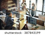 business marketing team... | Shutterstock . vector #387843199