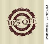 10  off rubber grunge seal | Shutterstock .eps vector #387849265