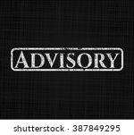 advisory chalkboard emblem on... | Shutterstock .eps vector #387849295