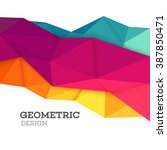 Stock vector geometric pattern vector background banner abstract design triangle graphics 387850471