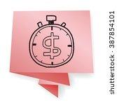 time is money doodle   Shutterstock .eps vector #387854101
