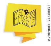 map location doodle | Shutterstock .eps vector #387855517