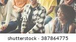 business team seminar listening ... | Shutterstock . vector #387864775