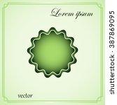 vector badge   rosette  icon   Shutterstock .eps vector #387869095