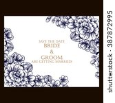 romantic invitation. wedding ... | Shutterstock . vector #387872995