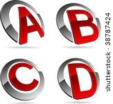 set of letter 3d vector icons...   Shutterstock .eps vector #38787424