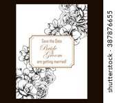 romantic invitation. wedding ... | Shutterstock . vector #387876655