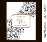 romantic invitation. wedding ...   Shutterstock . vector #387876697