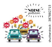 noise pollution design  vector... | Shutterstock .eps vector #387882715