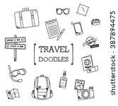 travel doodles set | Shutterstock .eps vector #387894475