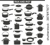 Pan And Pot Icons  Vector...