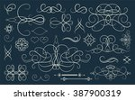 set vintage borders  frame and... | Shutterstock . vector #387900319