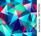 hipster triangle seamless... | Shutterstock .eps vector #387901345