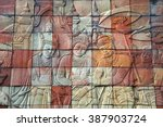 stone carvings of buddhist... | Shutterstock . vector #387903724