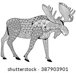 Moose Coloring Page For Adults...
