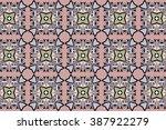 seamless oriental patterns.... | Shutterstock .eps vector #387922279