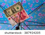 saving for a rainy day concept  ... | Shutterstock . vector #387924205