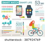 infographic with charts  icons  ... | Shutterstock .eps vector #387924769