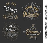 Set Of Vector Inspirational...