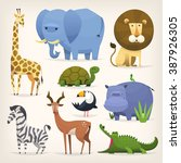 set of popular colorful vector... | Shutterstock .eps vector #387926305