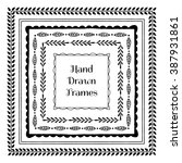 collection of hand drawn square ... | Shutterstock .eps vector #387931861